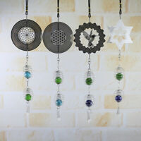Metal Wind Chimes Retro Rotating Wall Craft Home Hanging Decoration Spinners DIY