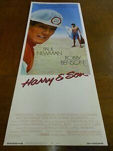 HARRY AND SON (1984) PAUL NEUMAN ORIGINAL INSERT POSTER NICE!+