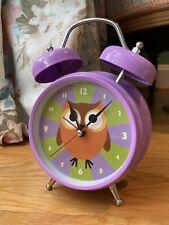 Childs Vintage Style Owl Alarm Clock