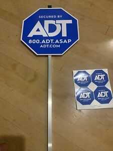 NEW 2020 ADT SECUITRY YARD SIGN AND 4 FREE STICKERS WATERPROOF & UV RESISTANT