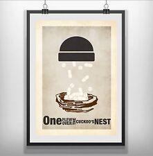 one flew over the cuckoos nest Minimalist Minimal Film Movie Poster Print