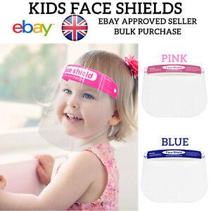 Kids Child Face Shield Visor PPE Protection SafetyMask Transparent Clear Plastic