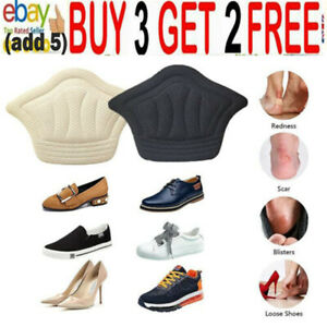 Pair Heel Grips Pads Liner Cushions Self-adhesive for Loose Shoe Extra ThiJH