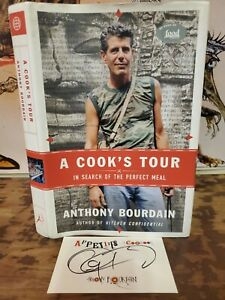 SIGNED 2001 Anthony Bourdain A COOK'S TOUR Hardcover Book DJ First/1ST NEW PLATE