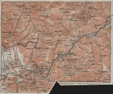 SABINA. Tivoli Aniene/Teverone river Montcelio topo-map. Italy mappa 1909