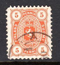 Finland - 1875 Def. Coat of Arms Mi. 13Ayb FU (Perf. 11) e