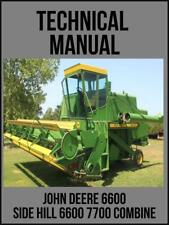 John Deere 6600 Side Hill 6600 7700 Combine Technical Manual Tm1021 Usb Drive