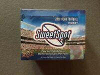 2010 UPPER DECK NCAA SWEET SPOT SEALED BOX Dez/McCoy/Hernandez/Gore HOF Helmet