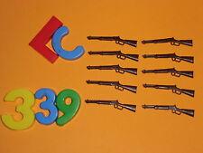 LOTE PLAYMOBIL NORDISTA,armes, fusils, fusils de chasse, winch ,LOTE 339