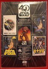 Disney Star Wars 40th Anniversary Limited Edition 5 Lithograph Print Set 2017