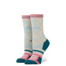STANCE Socks SOFT fuzzy tropical MAKAMAE Tomboy Lite Blue/Aqua/Pink NEW Women SM
