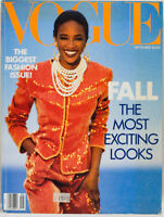 NAOMI CAMPBELL 1st black September Vogue model 1989 magazine FALL FASHION ISSUE