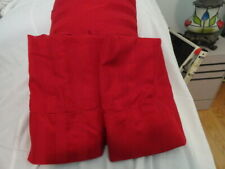CHARTER CLUB DAMASK 100% COTTON RED KING FLAT SHEET WITH 2 KING PILLOWCASES  EXC