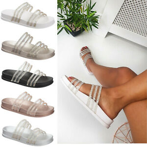 Ladies Slip On Slipper Sandals Size 3 to 9 UK - SLIDERS &  SUMMER SLIPPERS MULES