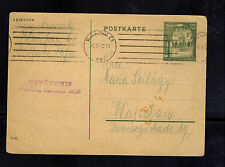 1942 GG General Government Warsaw Germany Poland Gestapo SD Prison Cover PF 1315