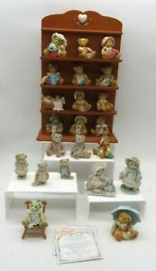 22 Cherished Teddies Bears Ornaments Bundle Collection with Stand & Certificates