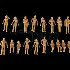 100 pcs 1:50 Scale People Architectural Human Figures Unpainted Sitting Standing