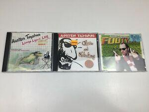 Austen Tayshus CD's x 3 - Lounge LIzard Live - Alive & Shticking - Footyana -
