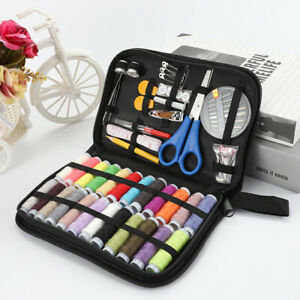 US 84 IN 1 Portable Travel Small Home Sewing Kit Case Needle Thread Scissors Set