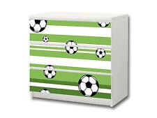 """""""Fußball"""" Aufkleber passend für Kommode IKEA MALM (3 Fächer) - M3K10"""