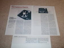 Yamaha Px-3 Platine Review, 1982, 3 Pgs , Complet Test ,