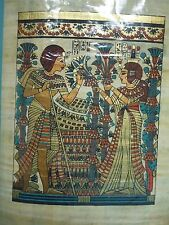 Egyptian Authentic Papyrus from Giza - Queen accepting flowers