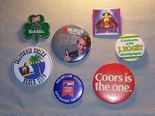 Vintage Beer Button Pinback lot Michelob, Miller, Schlitz, Coors, J. Roget