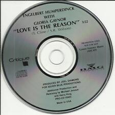 ENGELBERT HUMPERDINCK & GLORIA GAYNOR Love is the Reason PROMO DJ CD Single