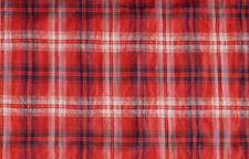 (EUR 15,90/m) Baumwolle Karo Rot Blau Weiß 0,50m x 1,55m (Art 1051)