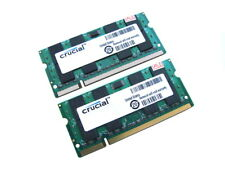 Crucial CT25664AC667 4GB (2x2GB Kit) 2Rx8 PC2-5300S 667MHz DDR2 Laptop Memory