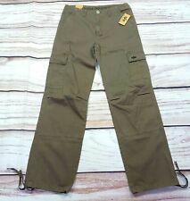 Alpha Industries Wide Leg Cargo Trousers Heavy Cotton Olive Green W32 L34 BNWT