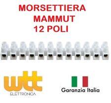 Morsettiera Morsetto MAMMUT Elettrica Bianca 12 Poli 2,5mm² Polipropilene 400V