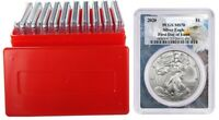 2020 1oz Silver Eagle PCGS MS70 First Day Issue - Eagle Frame 10 Pack w/Case