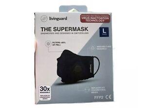 Livinguard Face mask the SUPERMASK Ultra 30 x Washable 6 MONTH LIFE UK SELLER
