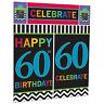 Celebration Happy 60th Birthday Party Scene Setter Wall Decorating Kit