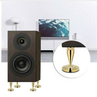 4Pcs 6 x 36MM Copper speaker spike isolation stand + base pad feet mat .
