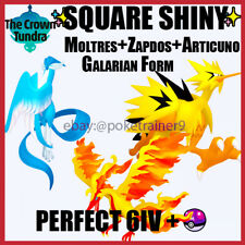 SHINY Galarian Moltres Zapdos Articuno 6IV Pokemon Sword And Shield✨DLC🚀