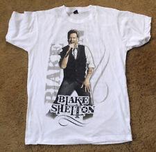 BLAKE SHELTON 2013 tour white t shirt size M cities list