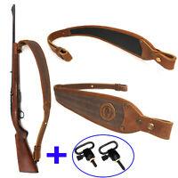 Shotgun Rifle Sling Leather Gun Sling with Swivels Adjustable Canvas Gun Straps