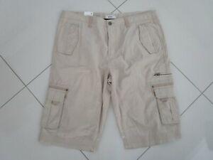 Just Jeans Men's Stone Cotton Cargo Shorts  Size: 38
