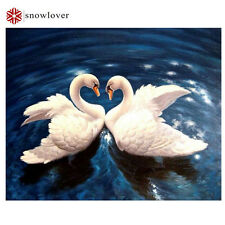3d diy diamond embroidery painting animal  Swans, love 20*25 см.