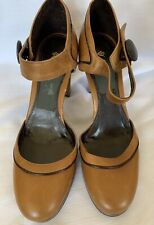 Next Mary Jane Women Brown Platform Heel Shoes Size UK7(41)D