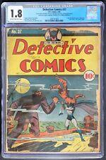Detective Comics #37 CGC 1.8 DC 1940 Conserved