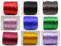 55meters 1.5mm Braided Macrame Satin Silk Cord Chinese Knot Nylon Rattail Thread