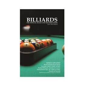 New 2021/2022 BCA Edition - BILLIARDS The Official Rules and Records Book