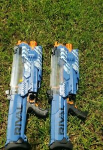 2 Hasbro Nerf Rival Nemesis MXVII-10K Blue - parts only. Doesn't work