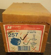 "35W 230V 1500RPM .70 AMP CCW 60HZ 1/4"" - 20 shaft #257 Motor Smith / Universal"