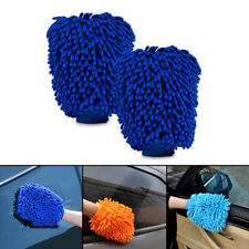 2x 2 in 1 Noodle Car Wash Cleaning Glove Mitt With Microfibre Mesh Double Sides