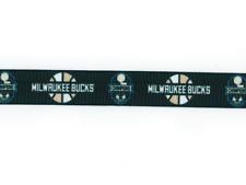 """MILWAUKEE BUCKS BASKETBALL 7/8"""" Grosgrain Ribbon 1,3,5,10 Yards SHIP FROM USA"""