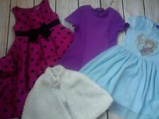 NICE SUMMER HOLIDAY WINTER 4x BUNDLE GIRL CLOTHES DRESSES PONCHO 6/7 Y 7/8 YRS